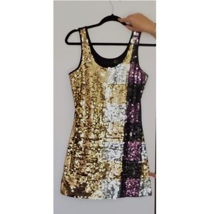 Just Cavali Designer Roberto Cavali Sequin Dress